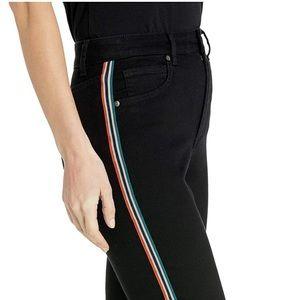 Bb Dakota Stay Cool Jeans W  Stripe In Black 25